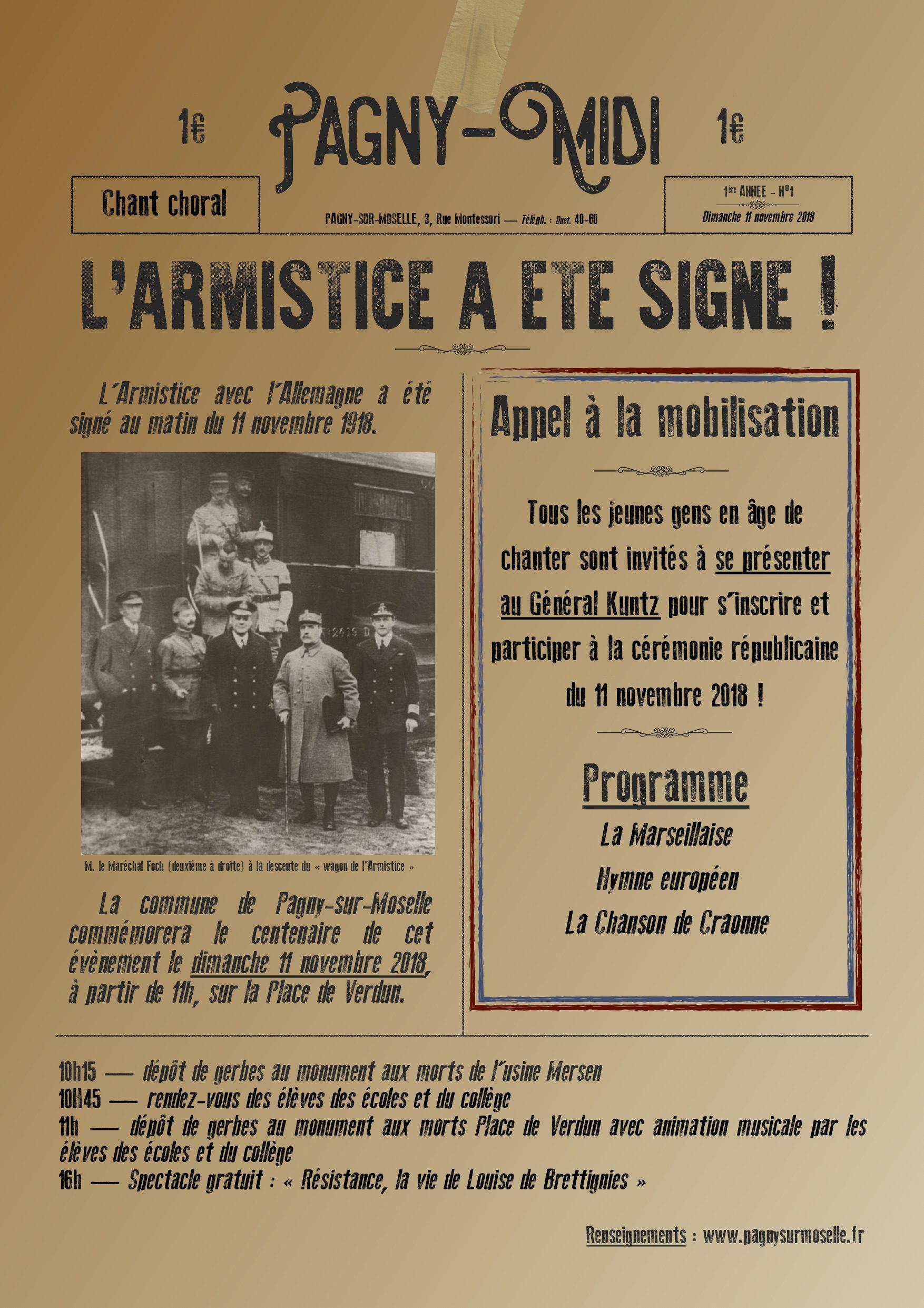 Affiche Armistice