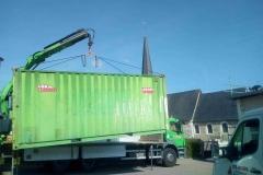 Arrivée du container de stockage
