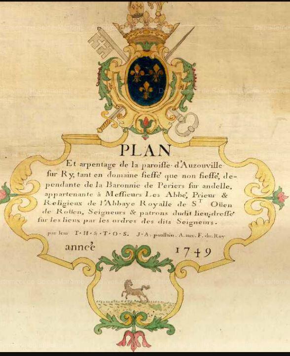 Extrait du plan de 1749