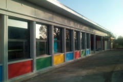 Façade sud avec les nouvelles fenêtres