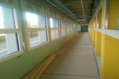 Le couloir avec ses nouvelles fenêtres